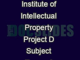 Brazilian National Institute of Intellectual Property Project D Subject Purses L PowerPoint PPT Presentation