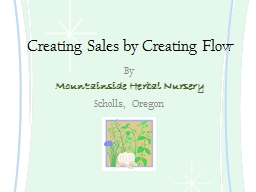 Creating Sales by Creating Flow PowerPoint PPT Presentation
