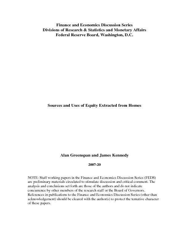 Finance and Economics Discussion Series Federal Reserve Board, Washing