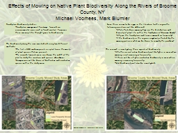 Effects of Mowing on Native Plant Biodiversity Along the Ri