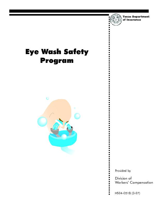 Eye Wash Safety