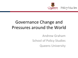 Governance Change and Pressures around the World PowerPoint PPT Presentation