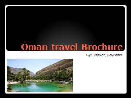 Oman travel Brochure