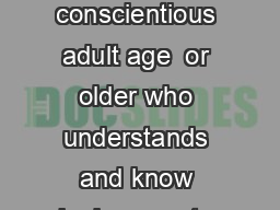 Qualified Supervision All activity afloat must be supervised by a mature and conscientious adult age  or older who understands and know ingly accepts responsibility for the wellbeing and safety of th PDF document - DocSlides