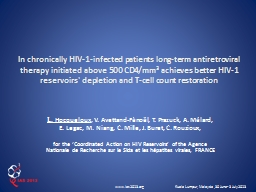 In chronically HIV-1-infected patients long-term antiretrov