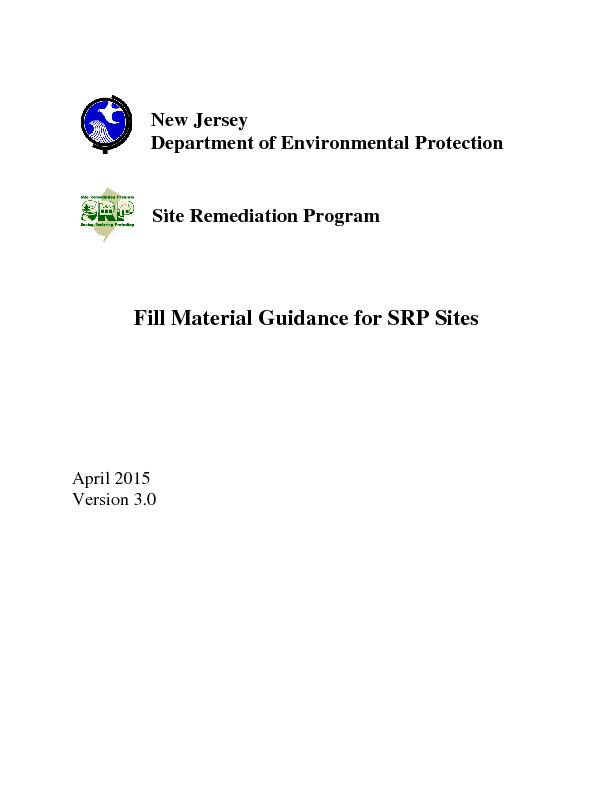 New Jersey Department of Environmental ProtectionSite Remediation Prog
