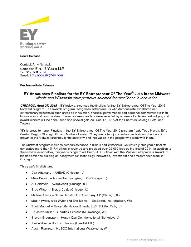 member firm of Ernst & Young Global Limited