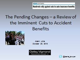 The Pending Changes – a Review of the Imminent Cuts to Ac