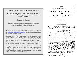 On the Influence of Carbonic Acid in the Air upon the Temperature of the Ground
