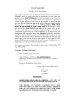 Town of Mount Holly NOTICE TO TAXPAYERS Agreeably to the provisions of Title  Section  Vermont Statutes Annotated notice is hereby given that the undersigned Listers within and for the Town of MOUNT