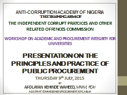 ANTI-CORRUPTION ACADEMY OF NIGERIA