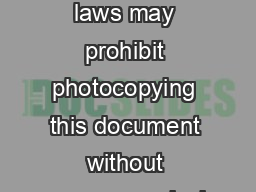 Copyright laws may prohibit photocopying this document without express permission