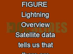 What Do You Need To Know About Aireld Lightning Protection FIGURE  FIGURE  Lightning Overview Satellite data tells us that there are around  million lightning ashes per day throughout the world or ab