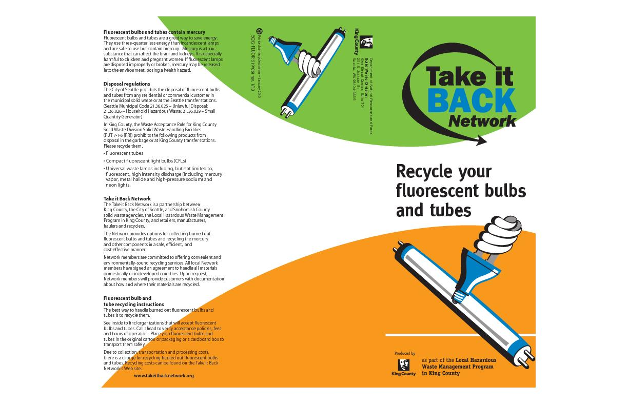 Recycle yourfluorescent bulbs and tubes