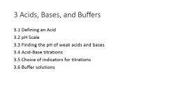 3 Acids, Bases, and Buffers PowerPoint PPT Presentation