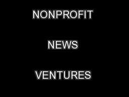 Finding a FootholdHOW NONPROFIT NEWS VENTURES SEEK SUSTAINABILITY ...