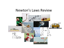 Newton's Laws Review