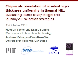 Chip-scale simulation of residual layer thickness uniformit
