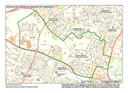 Catchment Area For Alderman Richard Hallam Primary School