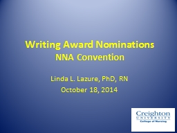 Tips for Writing an Award Nomination