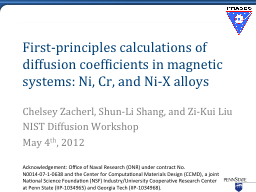 First-principles calculations of diffusion coefficients in