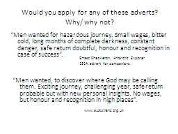 Would you apply for any of these adverts?