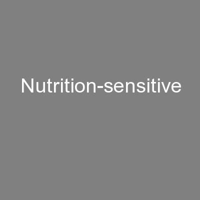 Nutrition-sensitive