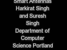 DO AALOHA Slotted ALOHA for Ad Hoc Netw orking Using Smart Antennas Harkirat Singh and Suresh Singh Department of Computer Science Portland State Uni ersity Portland OR  harkiratsingh cs PowerPoint PPT Presentation