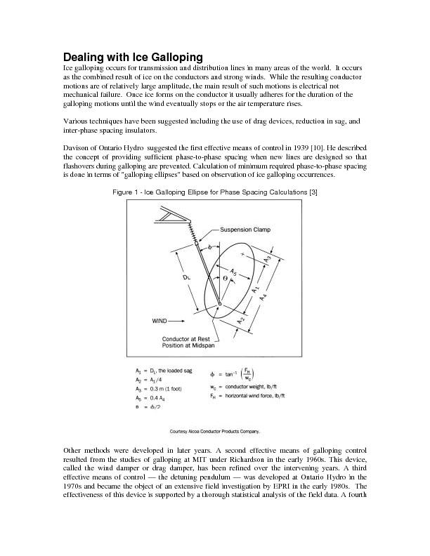 Dealing with Ice Galloping Ice galloping occurs for transmission and d