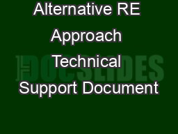 Alternative RE Approach Technical Support Document