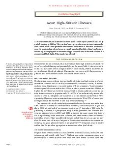 clinical practice T h e n e w e ngl a nd j o u r na l o f m e dic i n e This Journal feature begins with a case vignette highlighting a common clinical problem