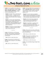 The Two Feet of Love Facilitators Guide Department of Justice Peace and Human De PDF document - DocSlides