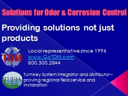 Solutions for Odor & Corrosion  Control PowerPoint Presentation, PPT - DocSlides