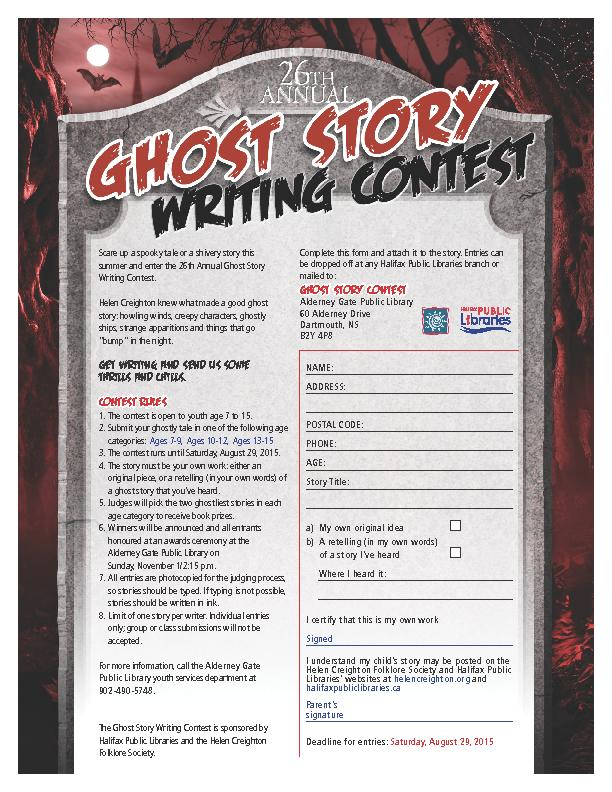 Scare up a spooky tale or a shivery story this summer and enter the 26