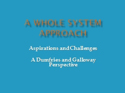 A Whole System Approach