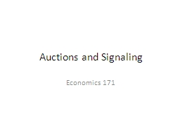 Auctions and Signaling