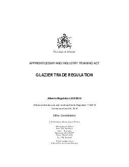 (Consolidated up to 182/2015) ALBERTA REGULATION 188/2001 ...