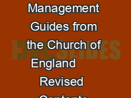 Records Management Guides from the Church of England       Revised  Contents  PDF document - DocSlides