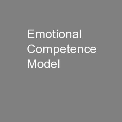 Emotional Competence Model