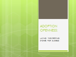ADOPTION OPENNESS: