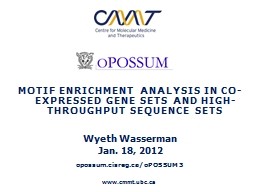Motif Enrichment Analysis in Co-Expressed Gene Sets and Hig