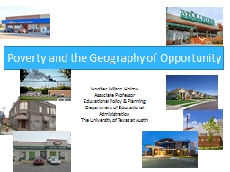 Poverty and the Geography of Opportunity