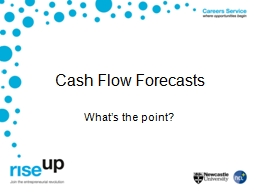 Cash Flow Forecasts