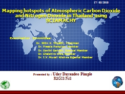 Mapping hotspots of Atmospheric Carbon Dioxide and Nitrogen