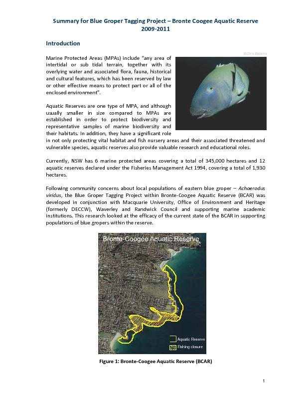 Aquatic Reserve Fishing closure