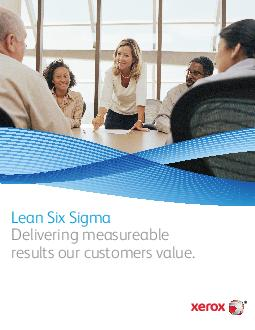 Lean Six Sigma Delivering measureable results our customers value PDF document - DocSlides