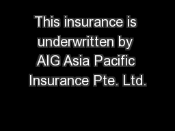 Aig Term Life Insurance Quotes: Student Assist This Insurance Is Underwritten By AIG Asia