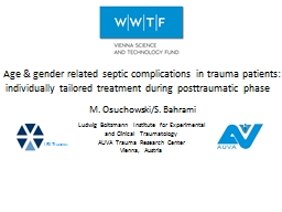 Age & gender related septic complications in trauma pat