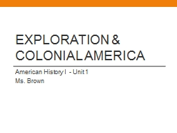 Exploration & Colonial America