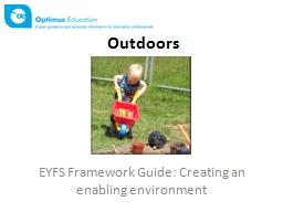 EYFS Framework Guide: Creating